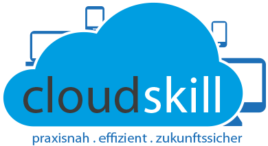 Das ist ein Bild mit dem Logo von Cloudskill in Bunt.
