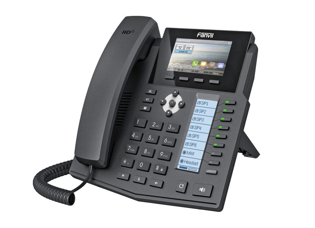 Das Bild zeigt ein Telefon der Marke Fanvil.